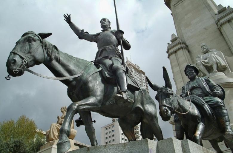 Памятник Дон Кихоту в Мадриде